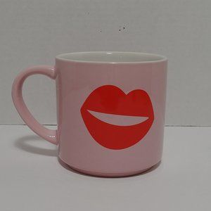 Threshold Red Lips Large Pink Coffee Mug Cup